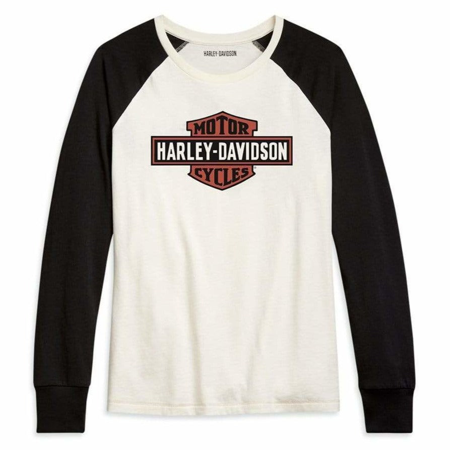 Harley-Davidson Long Sleeve T-Shirts Harley-Davidson® Colorblock Women's Long Sleeve T-shirt