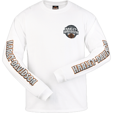 Harley-Davidson Long Sleeve T-Shirts Harley-Davidson® Reading Open Label  Dealership T-Shirt