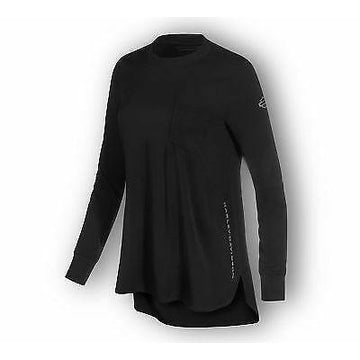 Harley-Davidson® Women's Stretch High-Low Hem Black Long Sleeve