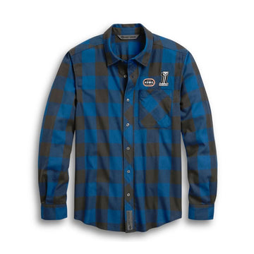 Harley-Davidson® Men's #1 Skull Buffalo Plaid Shirt
