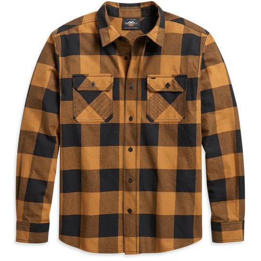 Harley-Davidson Shirts Harley Davidson® Men's Buffalo Plaid Shirt (Gold)