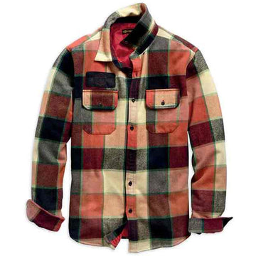 Harley-Davidson Shirts Harley-Davidson® Men's Logo Lined Slim Fit Plaid Shirt Jacket
