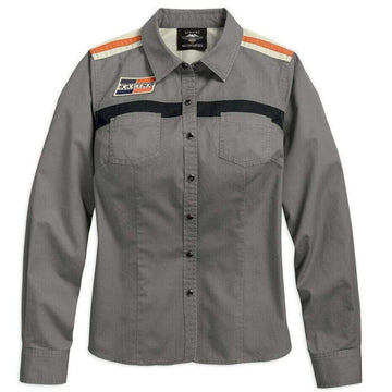 Harley-Davidson® Women's Screamin' Eagle® Woven LS Shirt