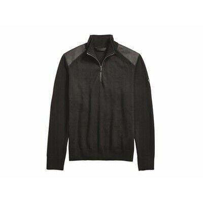 Harley-Davidson Sweatshirts Harley-Davidson® Men's Wool Blend 1/4-Zip Slim Fit Sweater