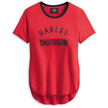 Harley-Davidson T-Shirts Harley-Davidson® Women's Distressed H-D One Short Sleeve Tee
