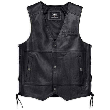 Harley-Davidson® Men's Tradition II Midweight Leather Vest