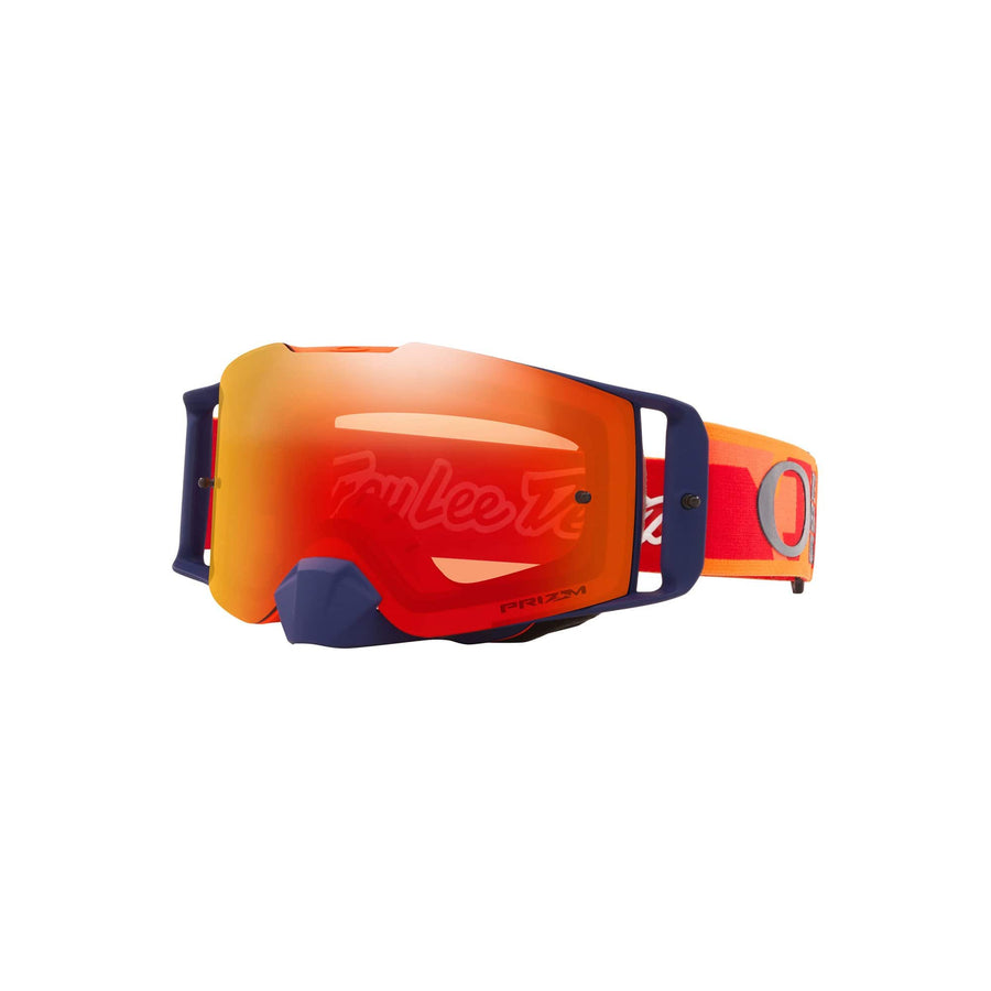 Oakley Goggles Oakley Front Line Goggle in TLD Confetti Orange/Red| Prizm MX Torch Iridium Lens