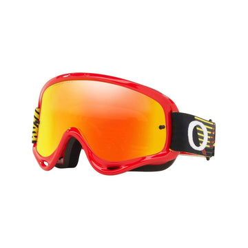 Oakley Goggles Oakley O Frame Sand Goggle in Circuit Red| Yellow| Fire Iridium Lens| Clear Lens