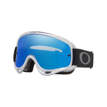 Oakley Goggles Oakley O Frame Sand Goggle in Silver Chrome| Black Ice Iridium Lens| Clear Lens