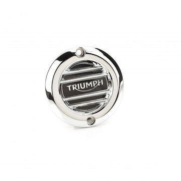 Triumph Accessories Triumph Chrome Clutch Badge - Ribbed