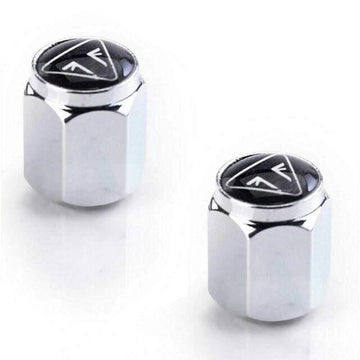 Triumph Accessories Triumph Valve Caps - Bubble Badge Chrome