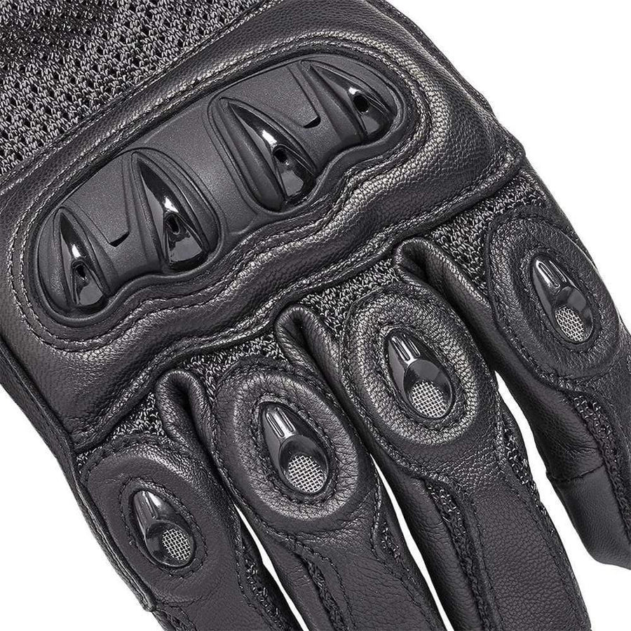 Triumph Harpton Black Leather Motorcycle Glove