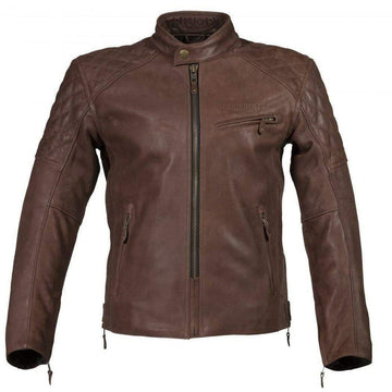Triumph Arno Quilted Brown Leather Motorcycle Jacket