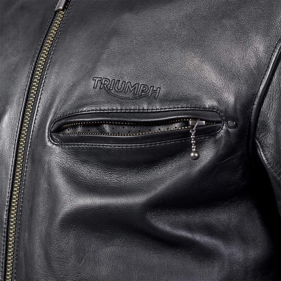 Triumph Copley Black Leather Motorcycle Jacket