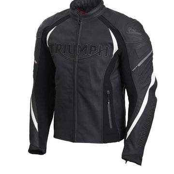 Triumph Triple Leather Sports Motorcycle Jacket