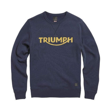 Triumph Blackawton Embroidered Logo Sweatshirt Black Iris