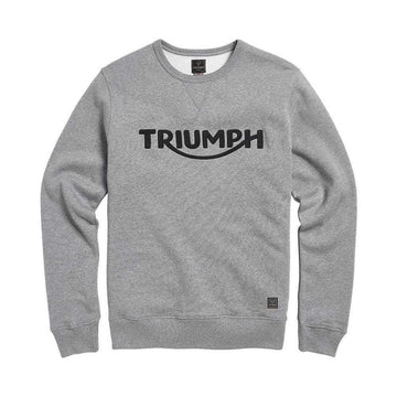 Triumph Blackawton Embroidered Logo Sweatshirt Grey Melange