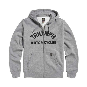 Triumph Lavenham Applique Logo Zip Through Hoody Grey Melange