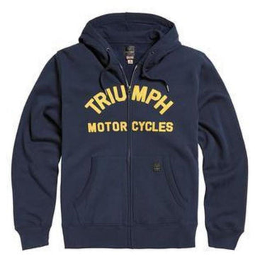 Triumph Lavenham Applique Logo Zip Through Hoody Black Iris