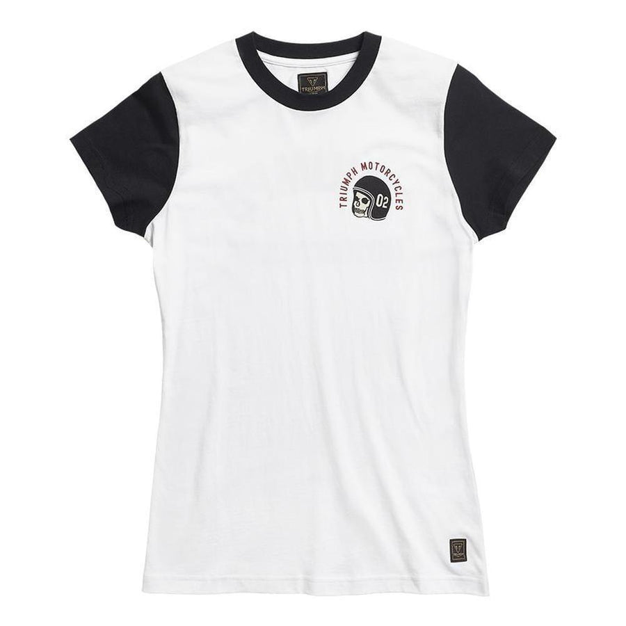 Triumph Surrey Ladies Contrast Sleeve T-Shirt White