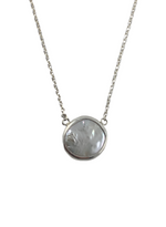 Sterling Silver Coin Pearl Necklace