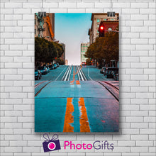 Load image into Gallery viewer, Portrait print of a road as printed by Photogifts.co.uk