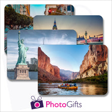 Load image into Gallery viewer, Pack of four individually personalised placemats with your own choice of image as produced by Photogifts.co.uk