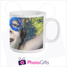 Load image into Gallery viewer, Personalised 6oz smug mug with your own choice of image on the mug as produced by Photogifts.co.uk