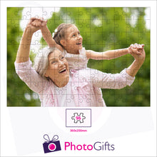 Load image into Gallery viewer, Personalised A3 jigsaw with your own choice of image. Breaks down into 96 pieces. As produced by Photogifts.co.uk