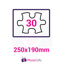 Load image into Gallery viewer, Personalised A4 jigsaw with your own choice of image. Breaks down into 30 pieces . As produced by Photogifts.co.uk