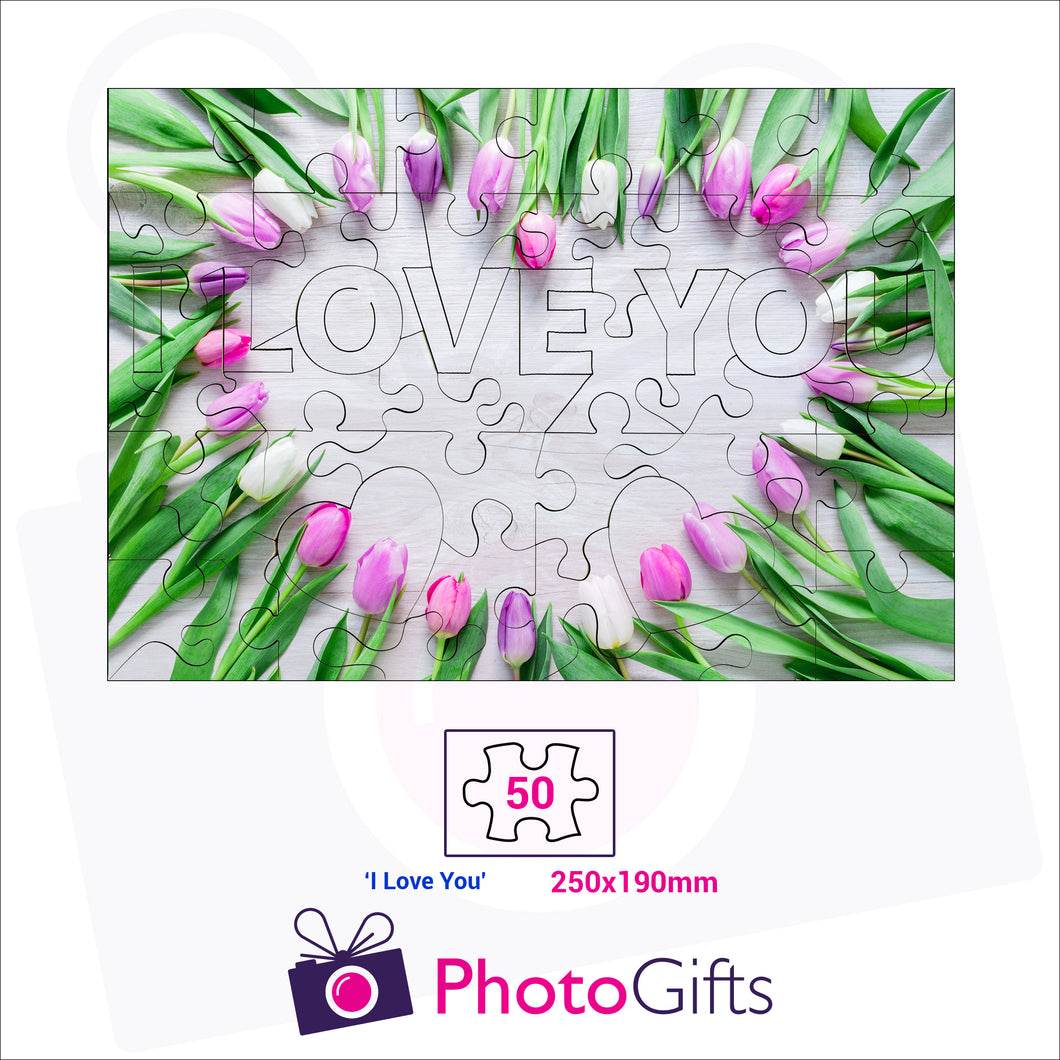 Personalised A4 jigsaw with your own choice of image. Breaks down into 50 pieces with some of the pieces in the shape of
