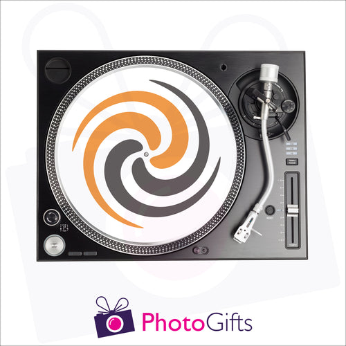 12inch personalised dj shipmate on record player as produced by Photogifts.co.uk