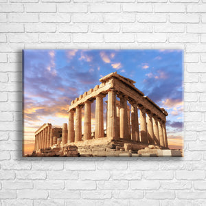 "Personalised 24x16"" landscape border canvas with your own choice of image hung on a white brick wall by Photogifts.co.uk"