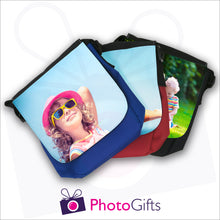 Load image into Gallery viewer, Personalised mini reporter bag collection with your own choice of image on the front flap as produced by Photogifts.co.uk