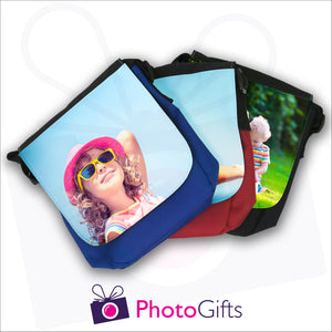 Personalised mini reporter bag collection with your own choice of image on the front flap as produced by Photogifts.co.uk