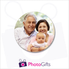 Load image into Gallery viewer, A single personalised rubber drinks coaster with your own choice of image as produced by Photogifts.co.uk