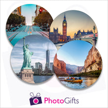Load image into Gallery viewer, Four individually personalised placemats with your own choice of image as produced by Photogifts.co.uk