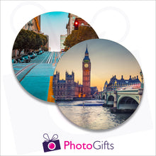Load image into Gallery viewer, Two individually personalised placemats with your own choice of image as produced by Photogifts.co.uk