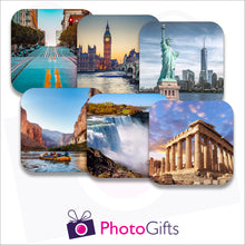 Load image into Gallery viewer, Six individually personalised placemats with your own choice of image as produced by Photogifts.co.uk