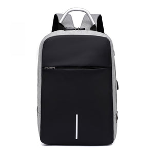 Gray smart backpack