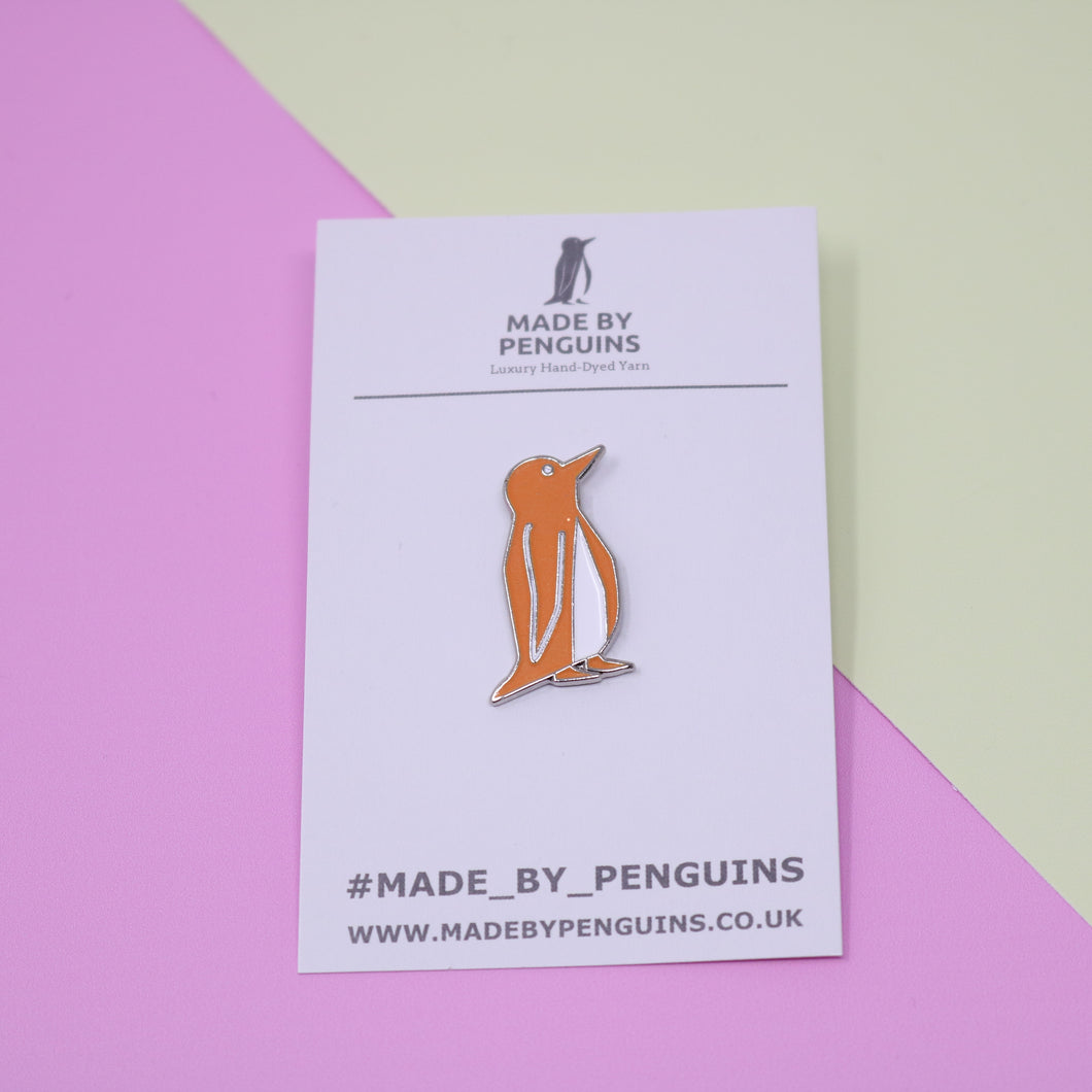 Orange/Glow in the Dark Penguin Pin (Liam)