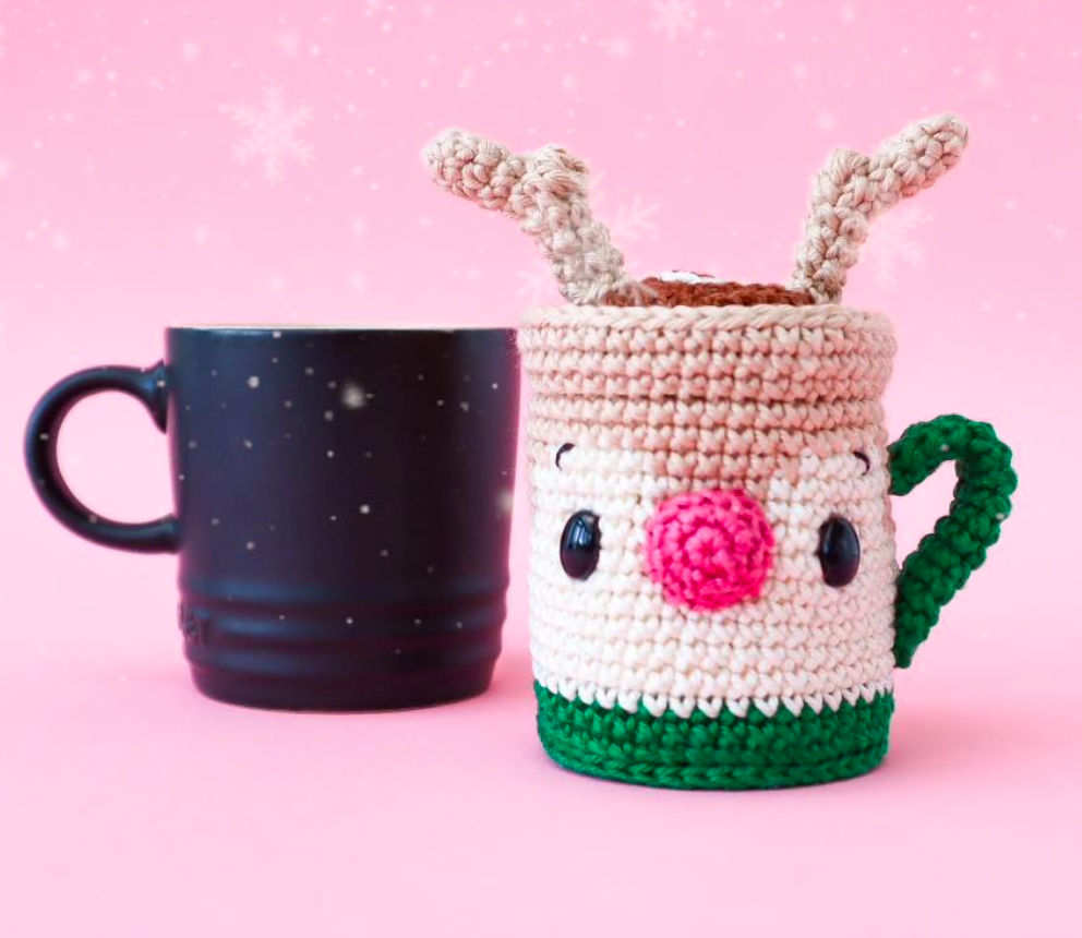 "Reindeer Hot Chocolate Bauble by ""Lex in Stitches"""