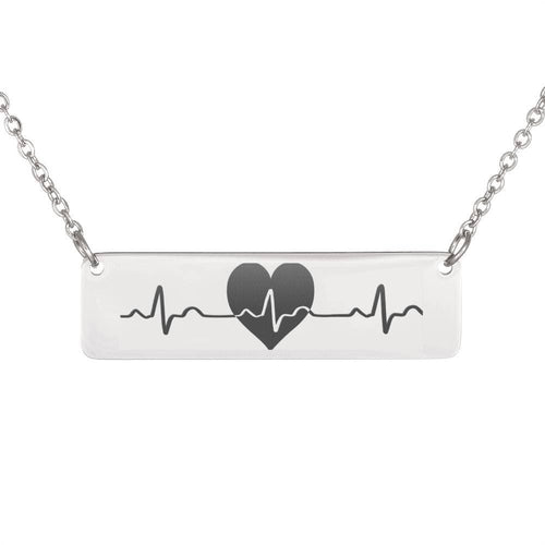 Heartbeat Vertical Bar Necklace