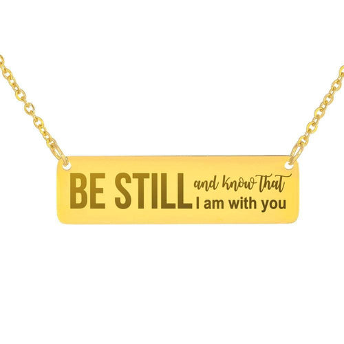 Be Still Vertical Bar Necklace