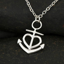 Load image into Gallery viewer, Anchor Cross Necklace Dad to Daughter Gift Safe