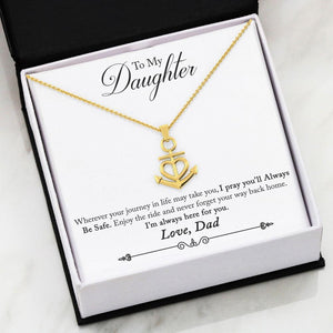 Anchor Cross Necklace Dad to Daughter Gift Safe