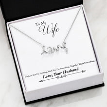 Load image into Gallery viewer, 3D Love Necklace Husband to Wife Gift Everything