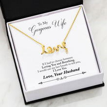 Load image into Gallery viewer, 3D Love Necklace Husband to Wife Gift Last Breath