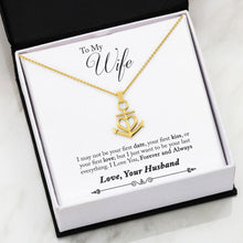 Load image into Gallery viewer, Nautical Anchor Necklace Husband to Wife Gifts First