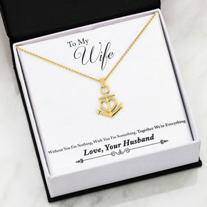 Nautical Anchor Necklace Husband to Wife Gift Everything